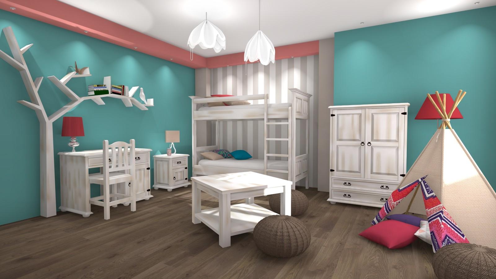obrázok rustikálna detská izba