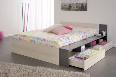 Moderní postel s úložným prostorem do ložnice   Nábytek Aldo